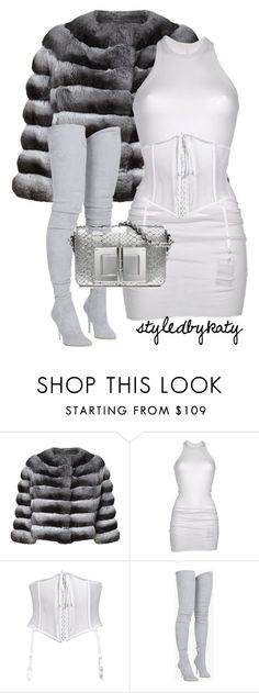 """""""Untitled #18"""" by styledbykaty ❤ liked on Polyvore featuring Harrods, DRKSHDW, Balmain, set, balmain, fur and TOMFORD"""