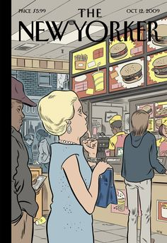 "The New Yorker - Monday, October 12, 2009 - Issue # 4328 - Vol. 85 - N° 32 - « The Money Issue » - Cover ""The Food Chain"" by Dan Clowes"