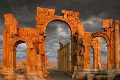 Monumental Arch Palmyra Syria. by Nick___. Please Like http://fb.me/go4photos and Follow @go4fotos Thank You. :-)