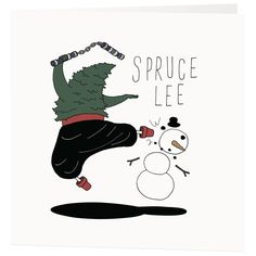 Pun filled Christmas Cards - featuring Bruce Lee