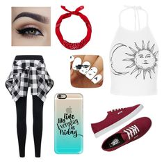 """""""RedBlackWhite"""" by rachelanderson1000 ❤ liked on Polyvore featuring New Look, Vans and Casetify"""