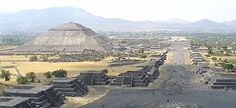 The ancient city of Teotihuacan: Pyramid of the Sun  ( 3rd largest pyramid in world)