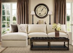 Casual Linen Upholstered Sectional Sofa | Deep Comfortable Sectionals | Zin Home