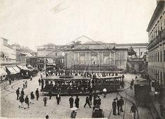 Malta, Augusto. Bonde da estrada de ferro Jardim Botânico - Largo da Carioca. Largo da Carioca. Rio de Janeiro. RIO DE JANEIRO / Brasil. 1904.