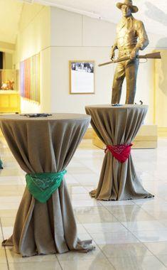 Rustic Christmas using bandanas~ #cowboy #festive #xmas #decor #tables #eventuresinc