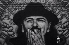 San Francisco's New Spray-Painted Carlos Santana Mural is Amazing