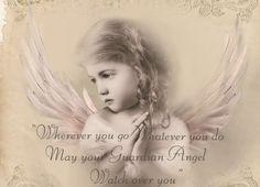 Vintage angel child digital collage p1022  free to use <3