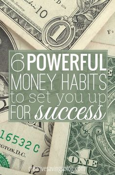 Don`t underestimate the power of habits! These 6 simple money habits go a long way in building a strong financial foundation, and with consistent practice, they can dramatically change your life. Small, daily actions WILL help you reach longterm success! Ways To Save Money, Money Tips, Money Saving Tips, Saving Ideas, Mo Money, Money Hacks, Financial Peace, Financial Tips, Budgeting Finances
