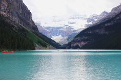 Rented a canoe and went out here:)  Lake Louise