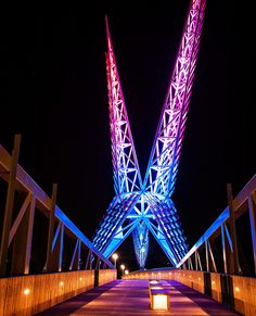 Sundance Pedestrian Bridge I-40 in Oklahoma City. Inspired by the state bird the Scissortail Flycatcher
