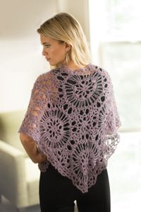 Mandala Shawl - A stunning #shawl from Love of #Crochet magazine, crocheted with #broomstick lace in the round.