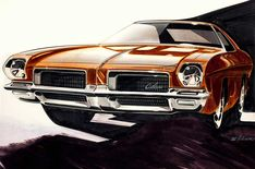 Oldsmobile Cutlass Conceptual Illustration / Bill Michalak
