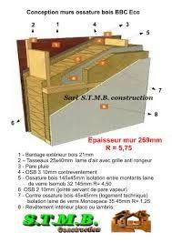 mur ossature bois recherche google - Epaisseur Mur Maison Ossature Bois