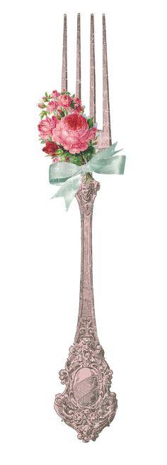 Vintage Fork printable | Vintage ~ Victorian Prints & Ads | Pinterest)