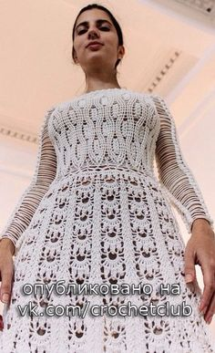 crochet dress by Helen Rodel