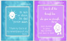 Encouraging Spring Notecards with Bible Verses: Free Printable, prints 4 cards on 1 8.5x11