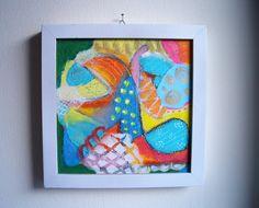 abstrakte Acrylmalerei mit Oelkreide auf Leinwand von SuseundMuse