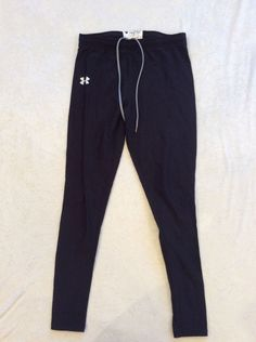 Under Armour Cold Gear Pants Compression Womens Large Drawstring Black Ski #UnderArmour #PantsTightsLeggings