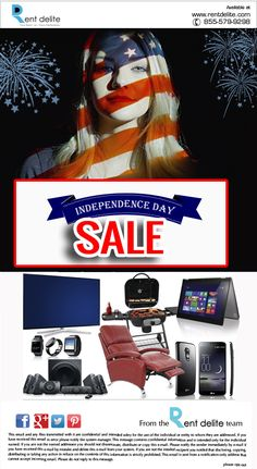 Independence Day Rent/Lease To Own Sale 2016 at RentDelite. Browse wide range of Video Games, Tablets, TVs, Smartphones, Computers, Laptops & More at