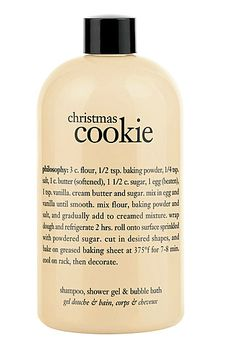 Christmas Cookie Shower Gel. The smell of this would just make me crave actual cookies. And then get mad because I don't have actual cookies. Screw this shower gel lol.