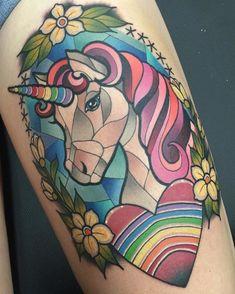 Badass Tattoos, Leg Tattoos, Body Art Tattoos, Girl Tattoos, Sleeve Tattoos, Tattoo Art, Polynesian Tribal Tattoos, Tribal Tattoos For Women, Unicorn Tattoos