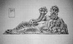 """the statue of """"Dio Nilo"""""""
