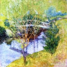 John Henry Twachtman, The White Bridge, 1895-97