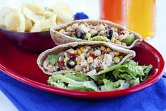 VEGETARIAN LUNCHES *CHICKPEA CHICKEN PITAS. - Recipe Courtesy of 'The Cooking Photographer'.