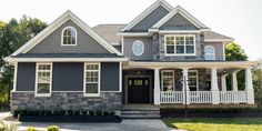 24 Ideas Exterior Paint Colors For House With Stone Grey Vinyl Siding