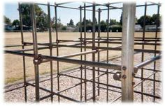 MONKEY BARS - One like this at Kaysville Elementary were fun to play on, but several kids fell and hurt themselves. The bars could be slick and cause you to slip and fall onto the hard surface below