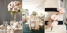 A Champagne, Blush & Gold Colored Wedding Decor