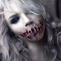 girl, halloween, horror, makeup, scary, youtube-glam&gore