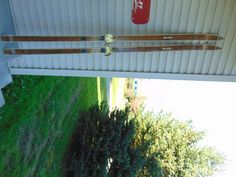 vintage/antique wooden skis   81  long chalet decor     #1211