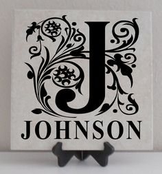 Vinyl Lettering Tile Decal Personalized by OffTheWallVinylDecor, $6.99