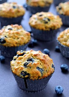 and Shine Blueberry Oatmeal Muffins Start your day off right with these Blueberry Oatmeal Muffins!Start your day off right with these Blueberry Oatmeal Muffins! Healthy Breakfast Muffins, Breakfast Recipes, Dessert Recipes, Desserts, Breakfast Ideas, Blue Berry Muffins Healthy, Healthy Blueberry Recipes, Breakfast On The Go, Brunch Recipes