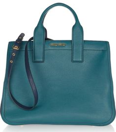 Miu Miu Two-Tone Textured Leather Tote Miu Miu Purse 0b78f28924d86