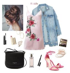 """""""Untitled #257"""" by stydialover on Polyvore featuring LE3NO, WithChic, Schutz, Lancaster, GUESS by Marciano, Red Camel, Stila, MAC Cosmetics, Bella Il Fiore and Calvin Klein"""