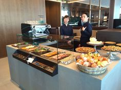 Cathay Pacific Haneda Airport lounge - For lighter meals, The Food Bar serves up a variety of wraps, sandwiches, quiches, salads, pastries and other sweet treats, as well as barista-pulled coffee.