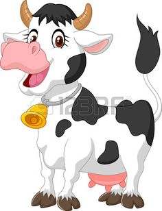 Happy cartoon cow photo