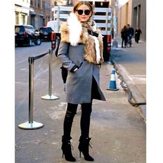My look for Day 2 of NYFW, on the way to Zimmerman FW 2015! via OliviaPalermo.com