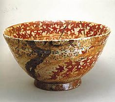 "Kitaoji Rosanjin ""Bowl with Design of Unkin"" (c.1941) Japanese maple - love it!"
