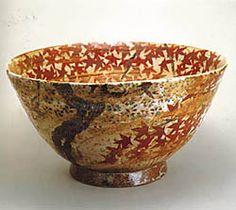 "Kitaoji Rosanjin ""Bowl with Design of Unkin"" (c.1941) Japanese maple - love it!"