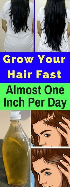 Grow Your Hair Faster. Almost One Inch Per Day!!! - All What You Need Is Here