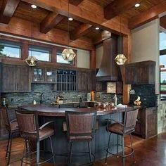 Rustic Dream Kitchen #cabinlife #rusticdecor #rustickitchen