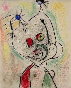 Joan Miró, Femme se coiffant devant un miroir 1938 on ArtStack #joan-miro #art