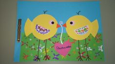 Tapa àlbum segon trimestre. Tapas, Bird Crafts, Album, Spring Crafts, Bird Houses, Arts And Crafts, Easter, Birds, Techno