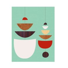Nesting Mobile Canvas Print | dotandbo.com