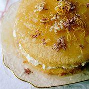 Elderflower and lemon layer cake