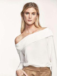 Massimo Dutti Colección Primavera 2017: fotos de los modelos - Massimo Dutti blusa escote bardot