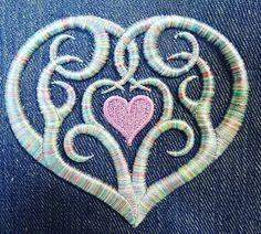 Much love to all you stitchy mothers out there today.  #machineembroidery #3dfoam #embroidery #mothersday #heart #stitchlife (Thanks again to the good people at @madeirausa for having me create this fun design and stitching it with their fantastic threads. :) )